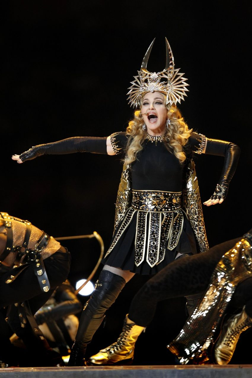 Madonna at Super Bowl 2012 Half Time Show